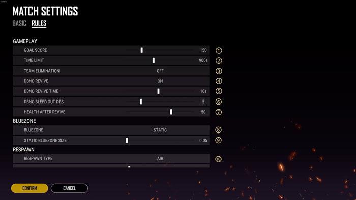 Esports Mode - Rule Settings
