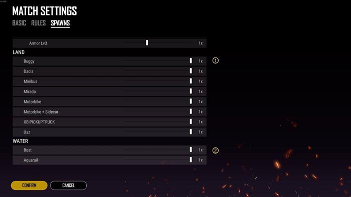 Esports Mode - Spawn Settings