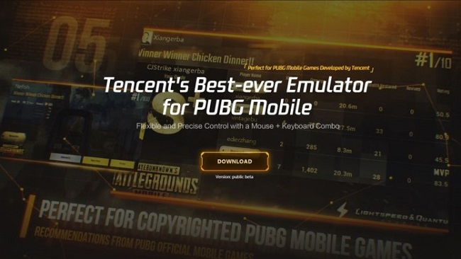 Tencent Gaming Buddy PUBG Mobile Emulator