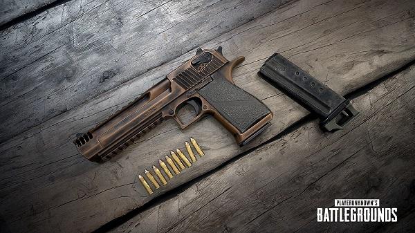 DEAGLE Pistol utilizes 9mm bullets