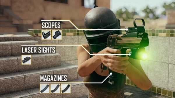 Features of the Desert Eagle in PUBG Mobile and attachments 2