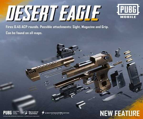 Try to stay away from hot spots after landing! Otherwise, you can't fulfill your objective. How to fire a Desert Eagle in PUBG Mobile game