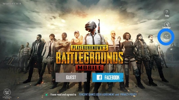Repair game option can help you solve ping issues in PUBG Mobile