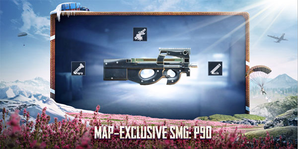 New Map-exclusive SMG: P90 in PUBG Mobile