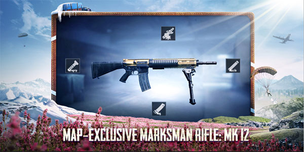 Map-exclusive marksman rifle: Mk 12
