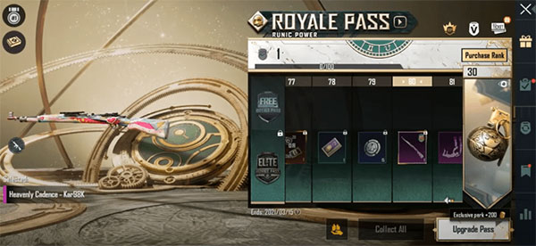 Kar98K Heavenly Cadence skin at level 80 will be a special gift for ADCs.