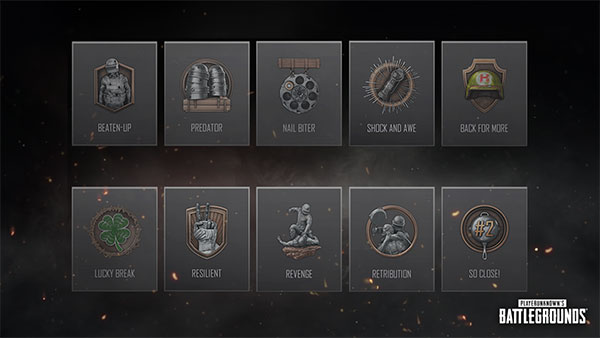 Ten new types of Mastery Medals will appear in the new PUBG Patch.