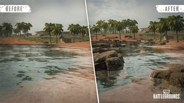 A few minor changes to the Sanhok map